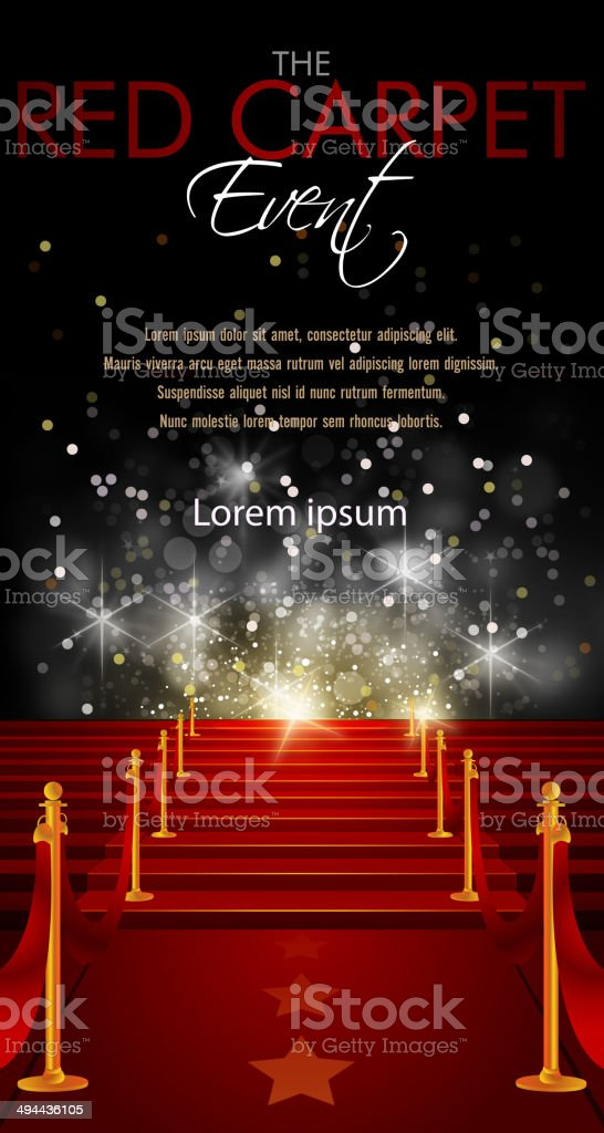 Red Carpet Background with Copy Space vector art illustration