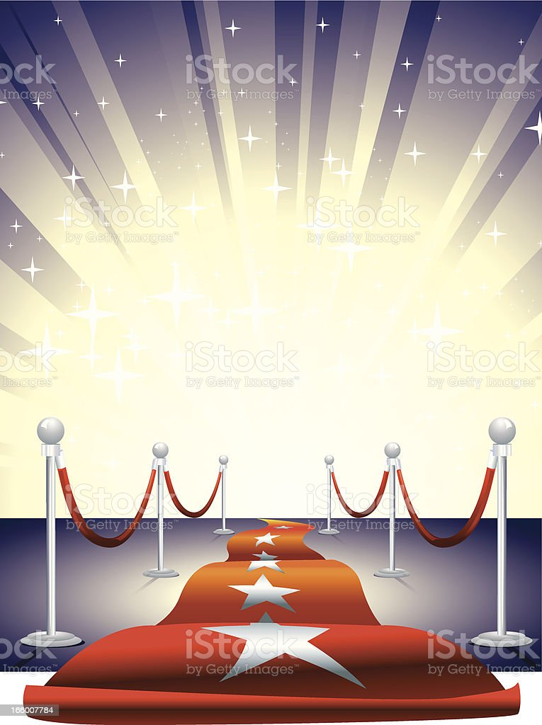 Red Carpet Entrance royalty-free stock vector art