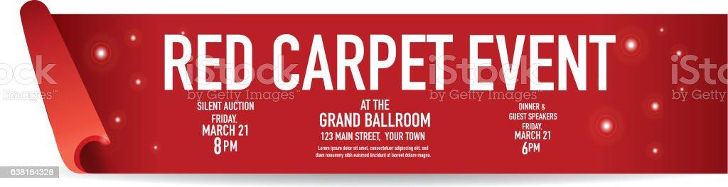 Red Carpet Event banner design template vector art illustration