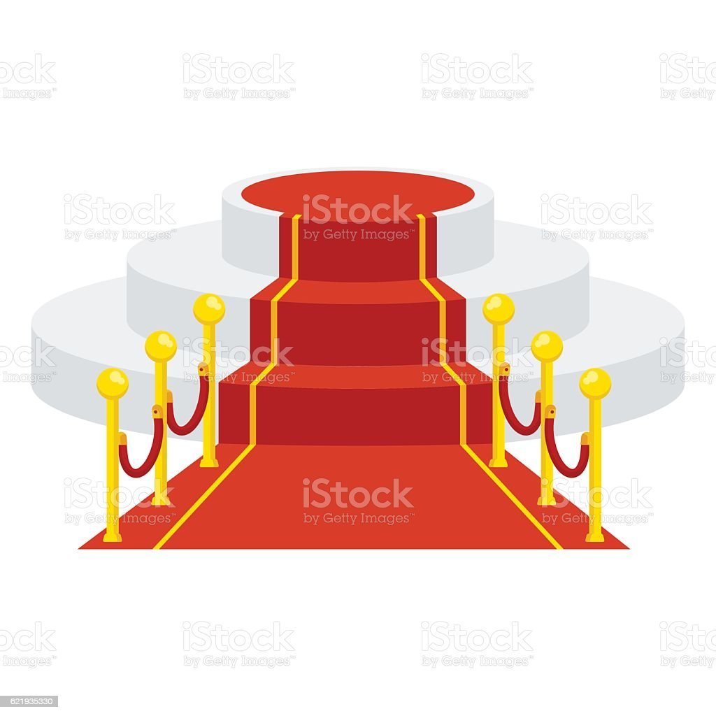 red carpet for celebrities vector art illustration