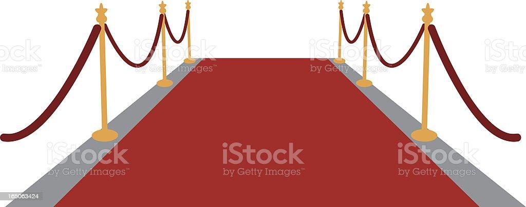 red carpet isolated on white vector art illustration