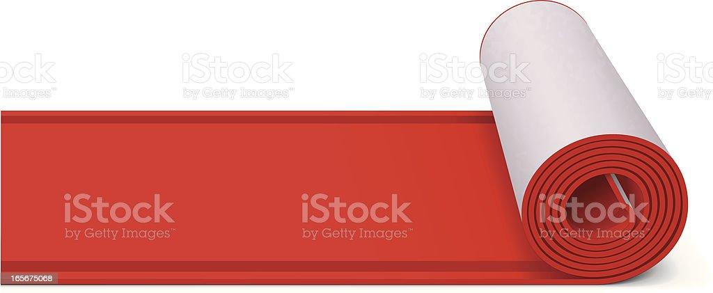 Red Carpet vector art illustration