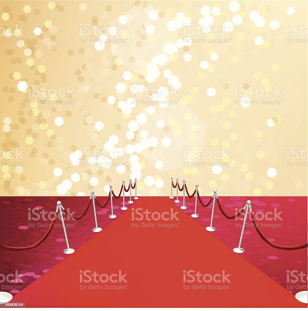 Red Carpet - Vector Illustration royalty-free stock vector art