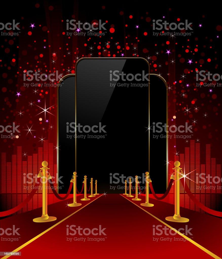 Red Carpet with Elegant Background vector art illustration