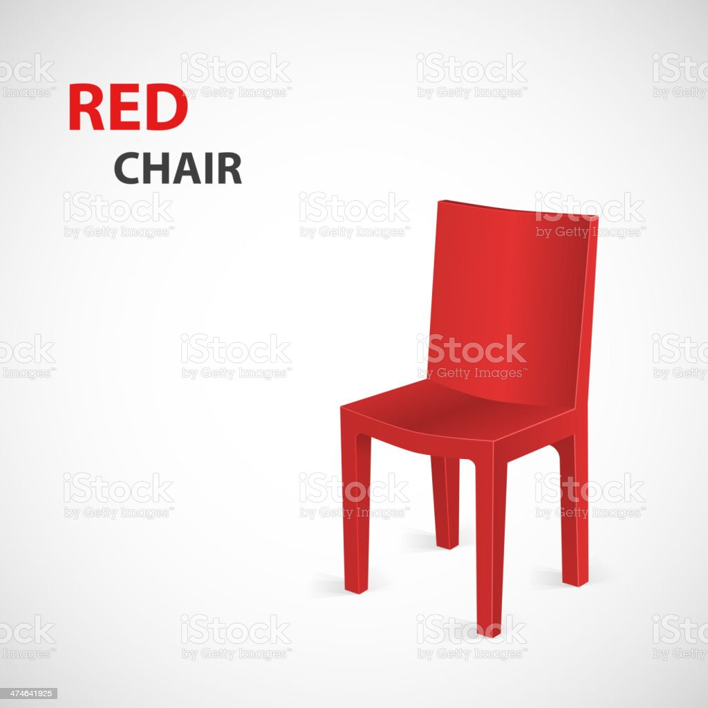 Red Chair Isolated. Vector vector art illustration