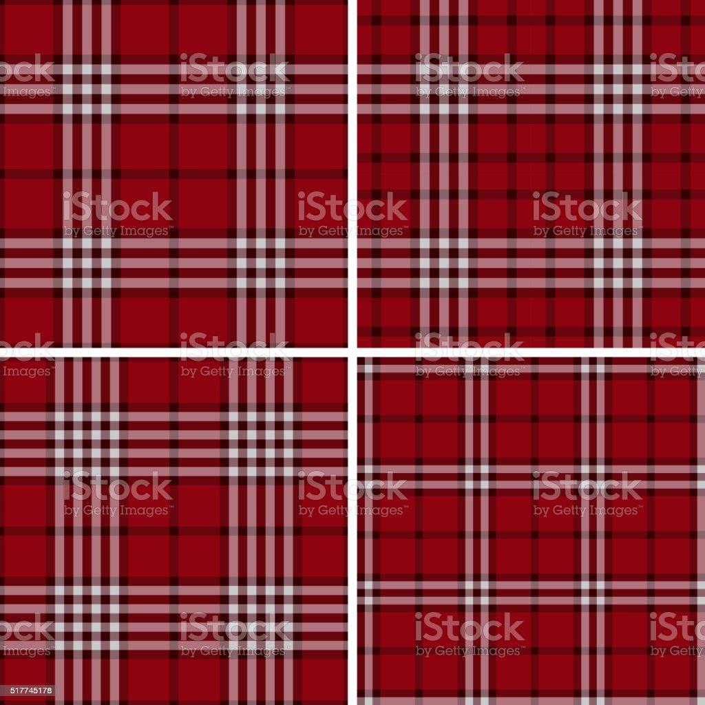 Red Check Plaid Patterns vector art illustration