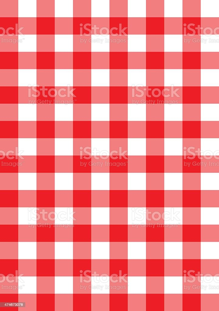red checkered fabric vector pattern background vector art illustration