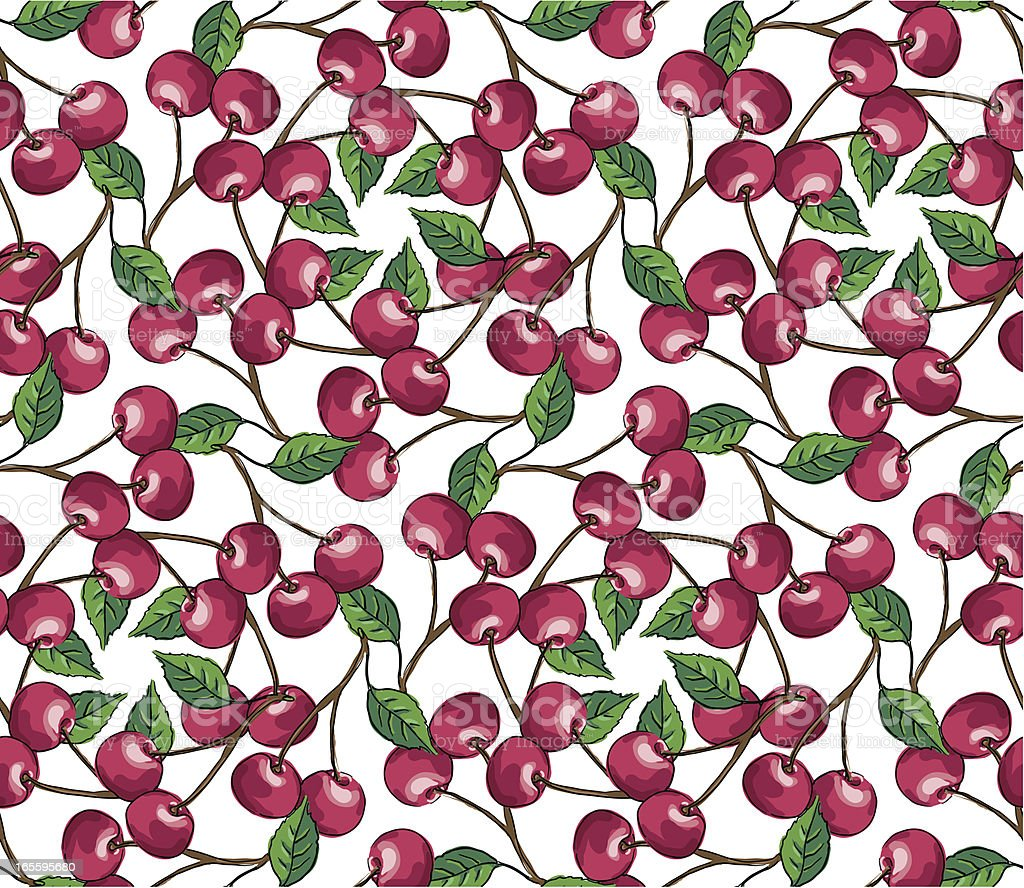 Red Cherry - Seamless Pattern royalty-free stock vector art