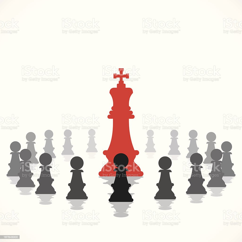 red chess king royalty-free stock vector art