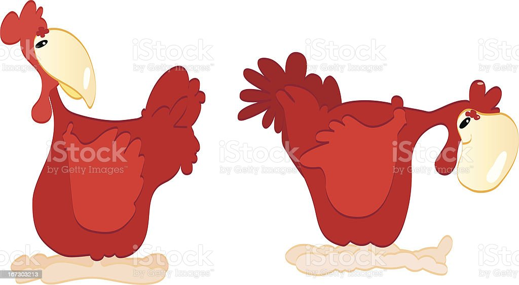 Red chickens royalty-free stock vector art