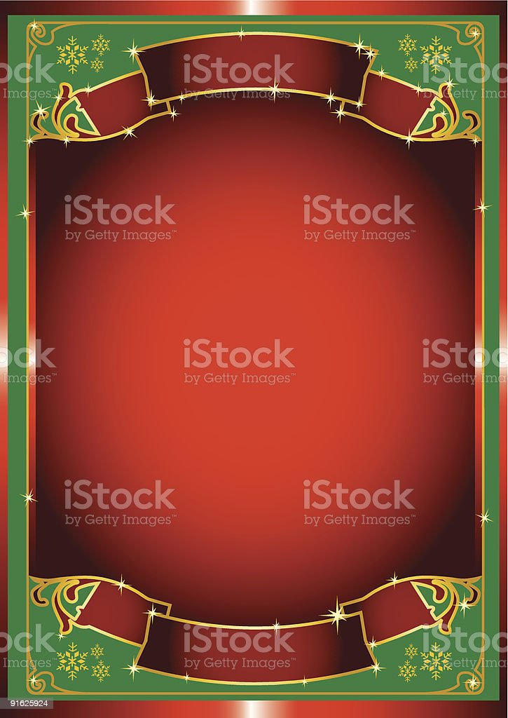 Red chrismas poster royalty-free stock vector art