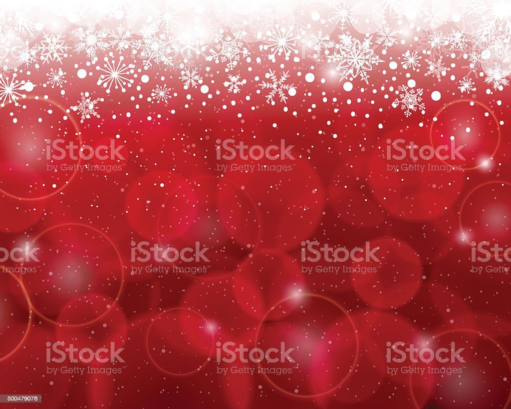 Red Christmas Background vector art illustration