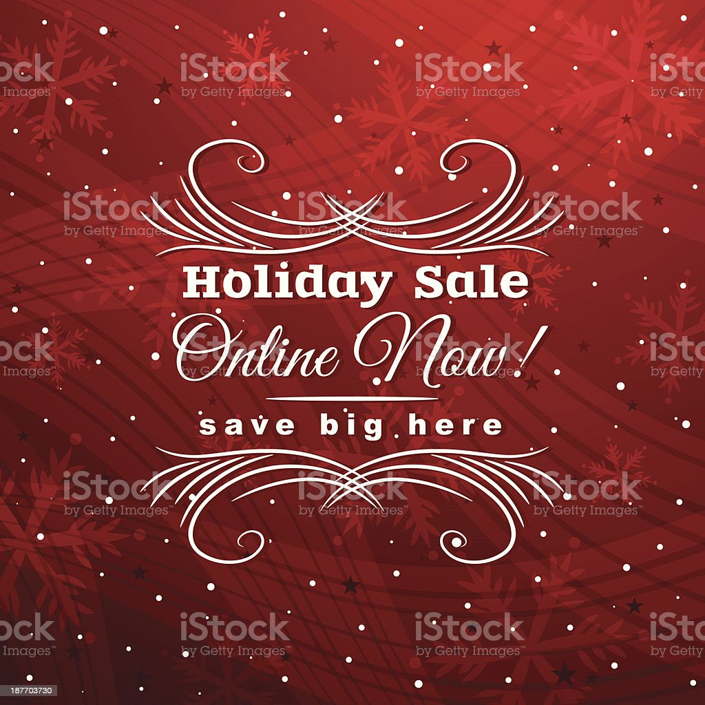 red christmas background with label for sale royalty-free stock vector art