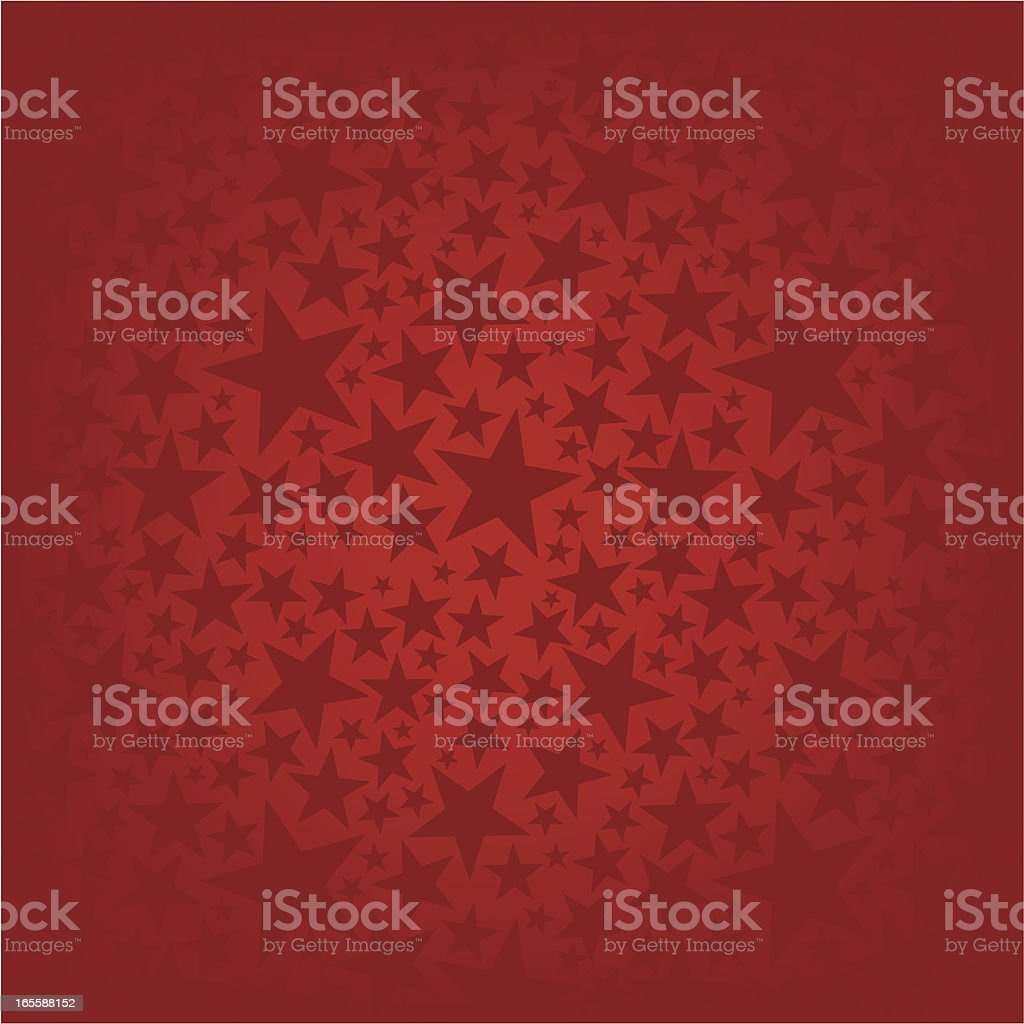 Red Christmas background with stars vector art illustration