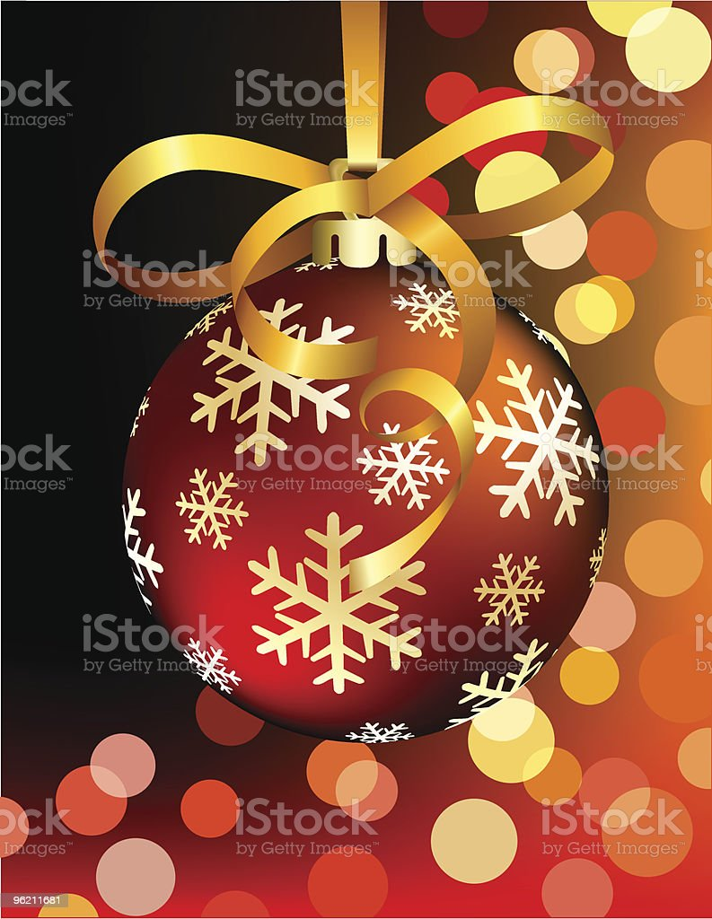 Red Christmas ball royalty-free stock vector art