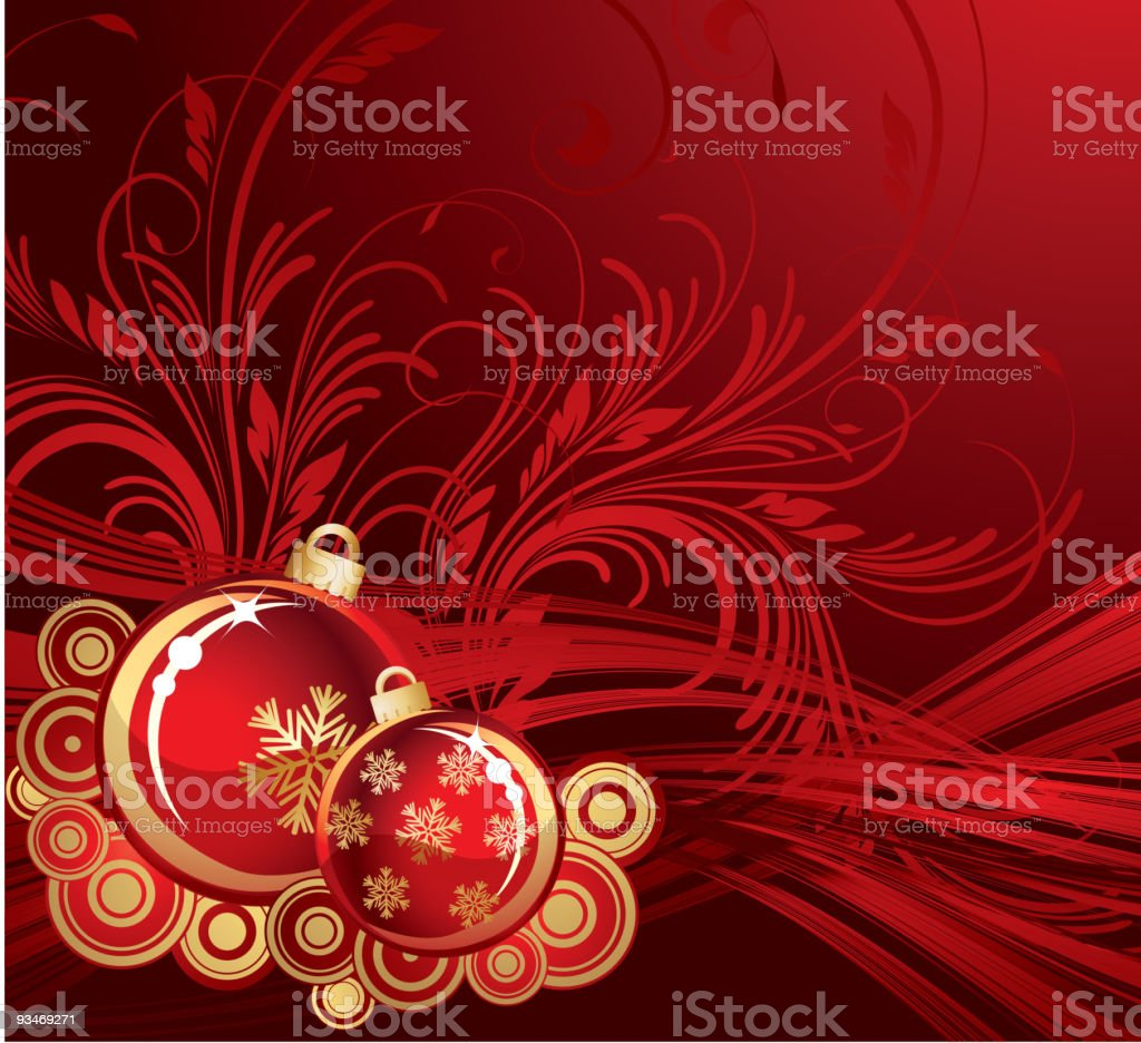 Red christmas balls background royalty-free stock vector art