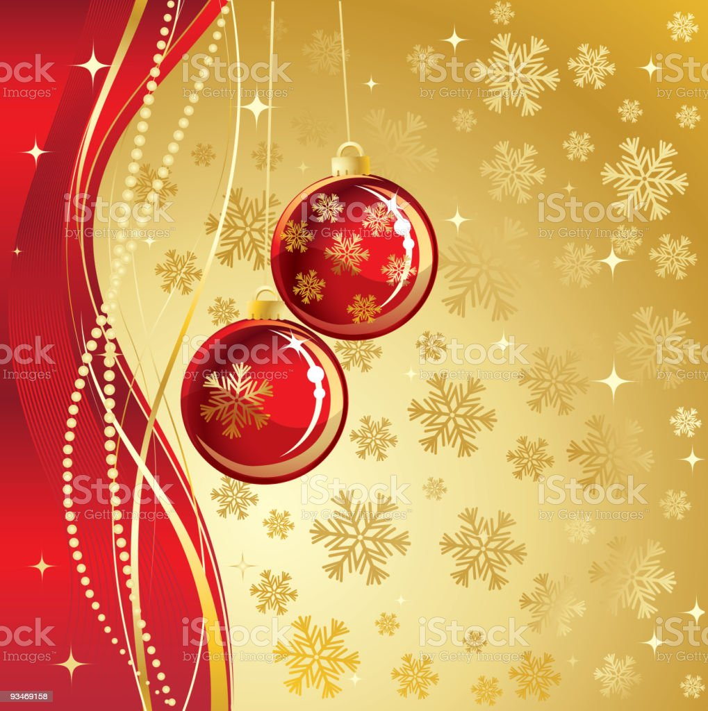 Red christmas balls royalty-free stock vector art