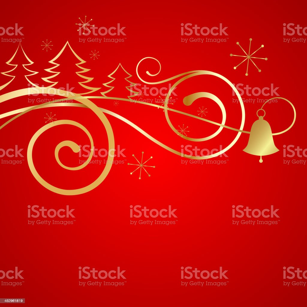 Red christmas banner. royalty-free stock vector art