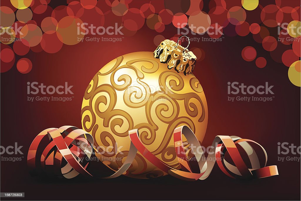 Red christmas bauble royalty-free stock vector art