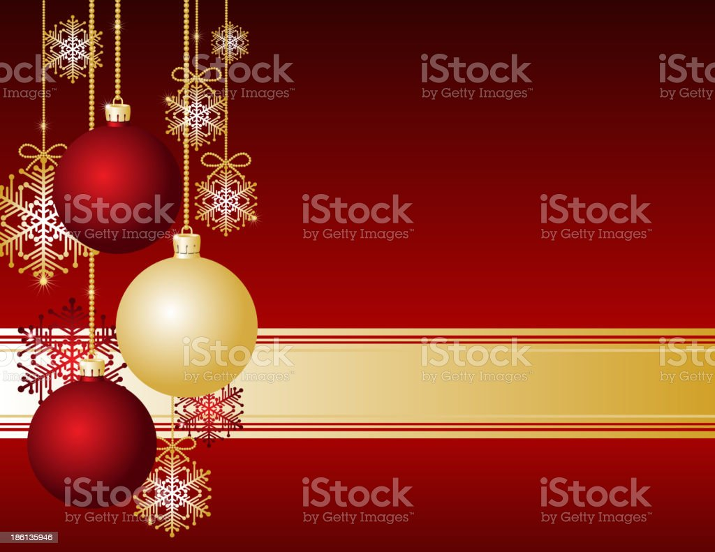 Red Christmas card royalty-free stock vector art
