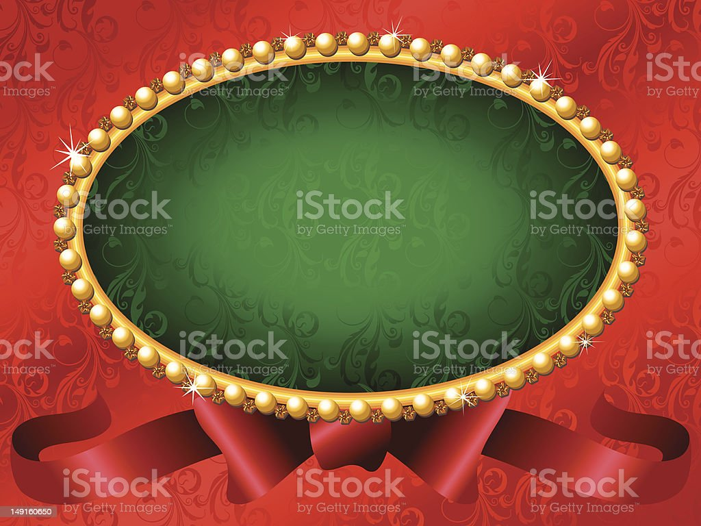 Red Christmas Frame royalty-free stock vector art
