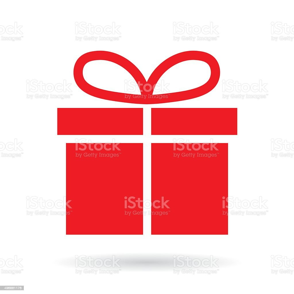 red christmas gift box vector art illustration