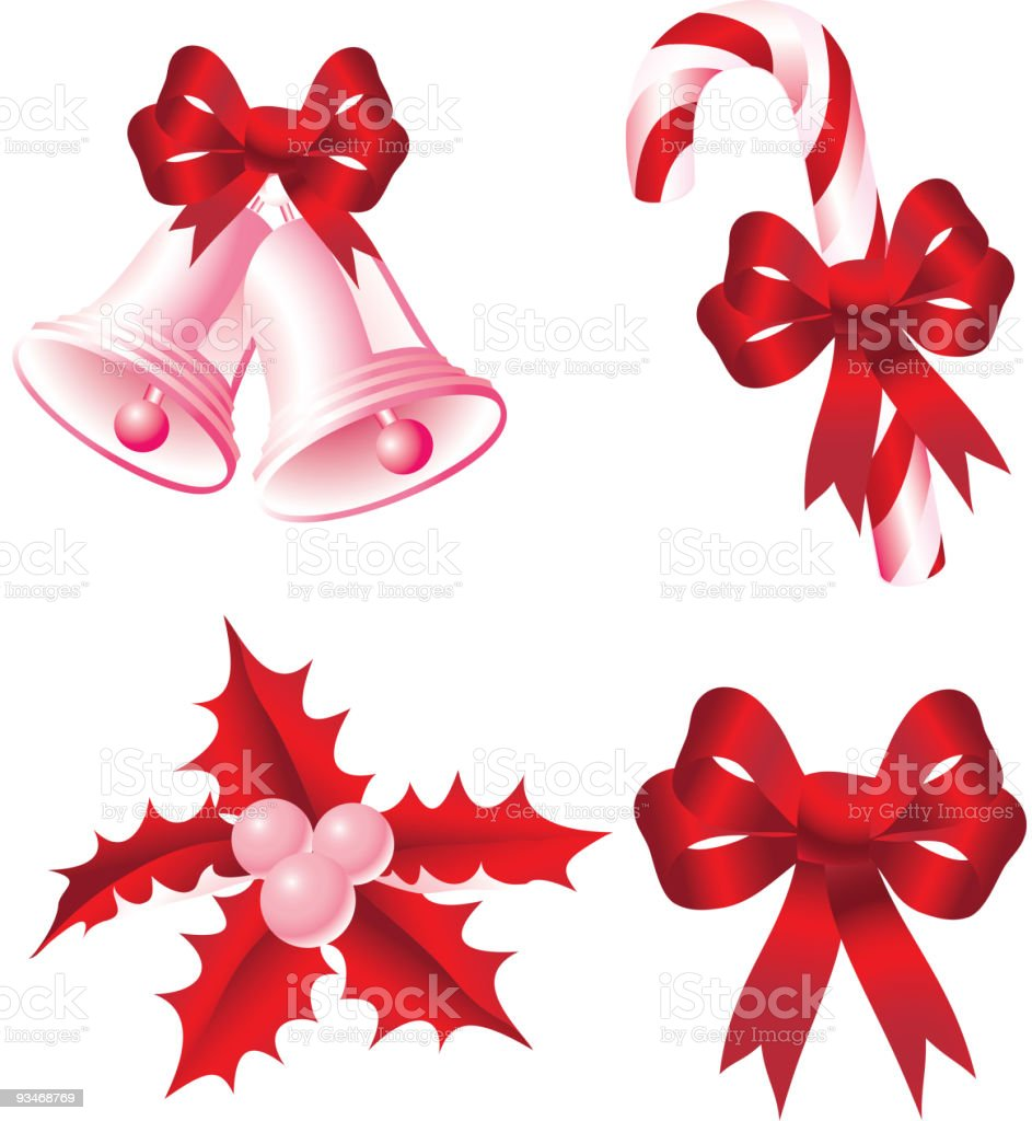 Red christmas icon royalty-free stock vector art