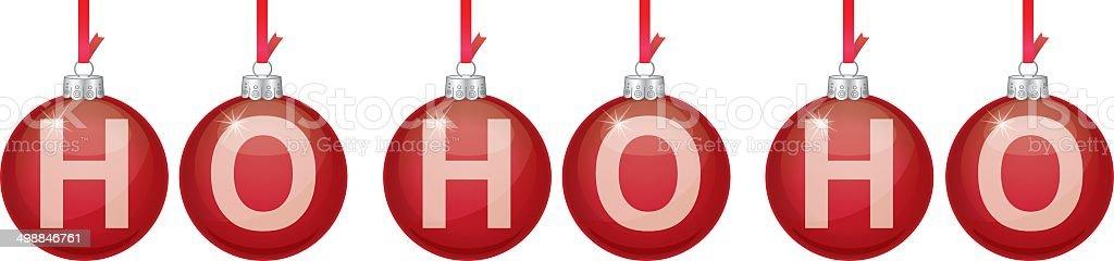 Red Christmas Ornament Ho Ho Ho royalty-free stock vector art