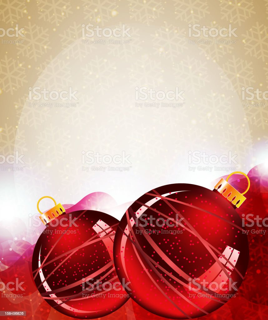 Red Christmas Ornaments royalty-free stock vector art