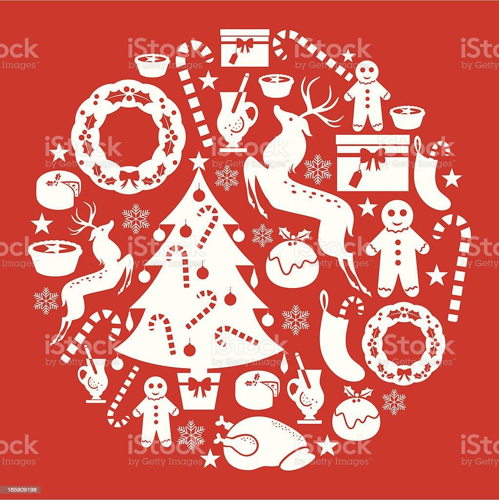 Red Christmas set royalty-free stock vector art