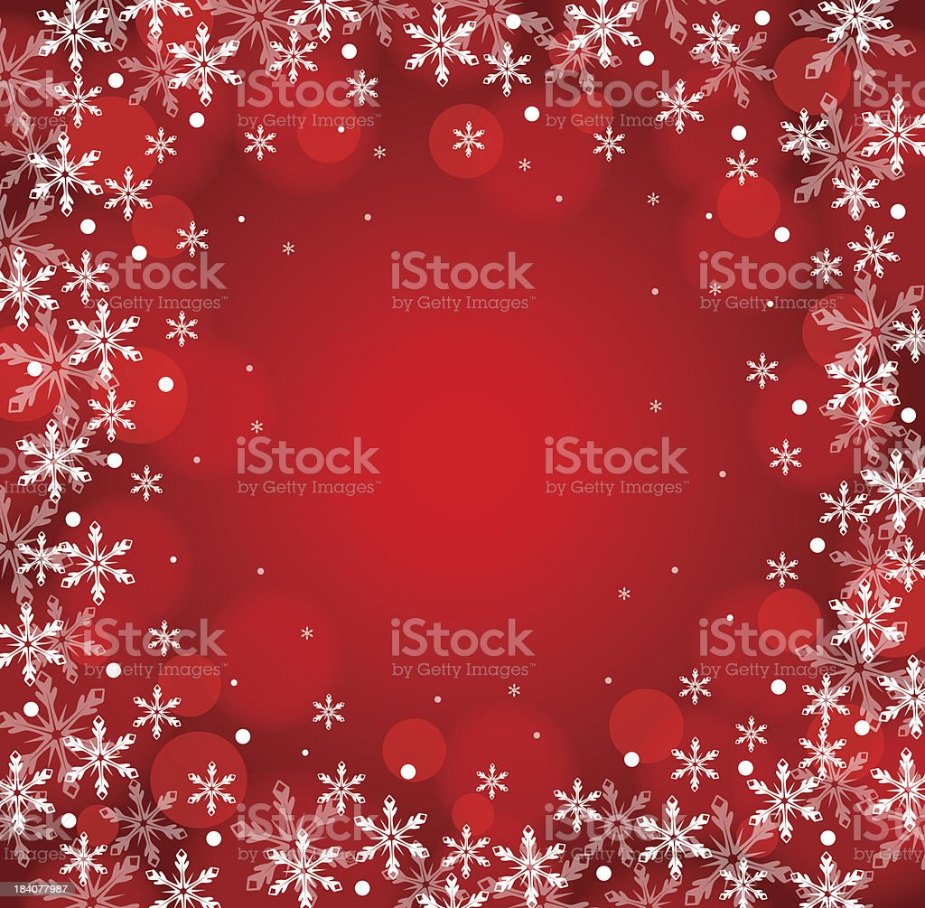 Red Christmas snow background royalty-free stock vector art
