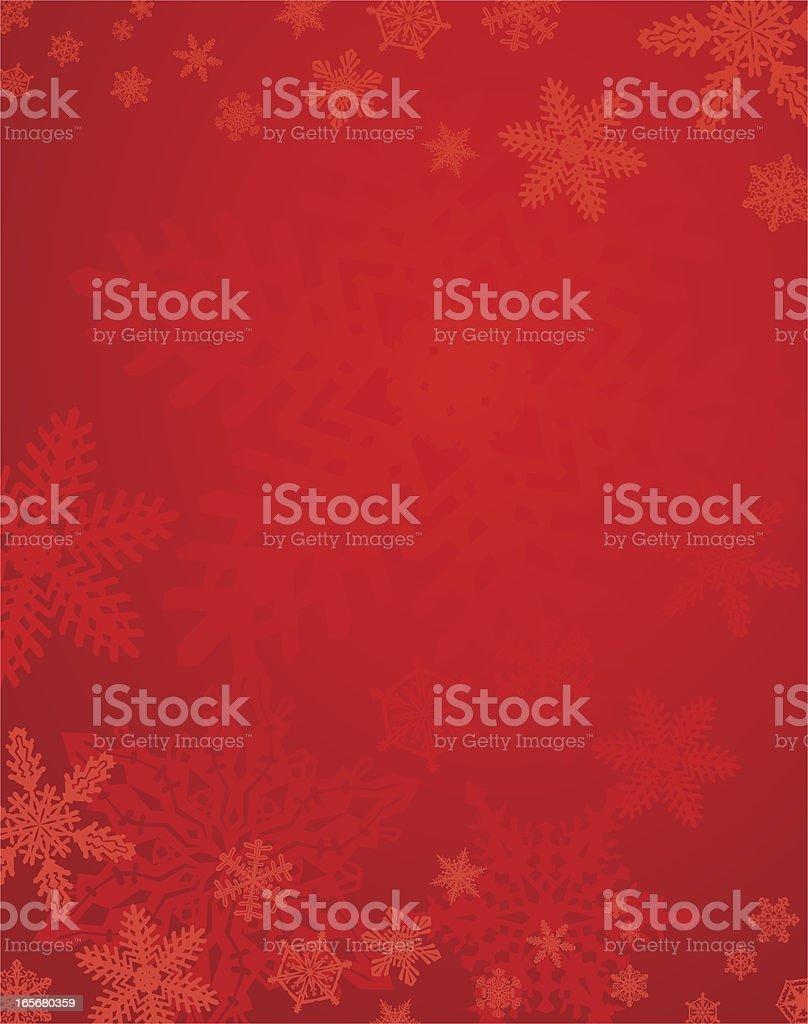 Red Christmas Snowflake Background vector art illustration