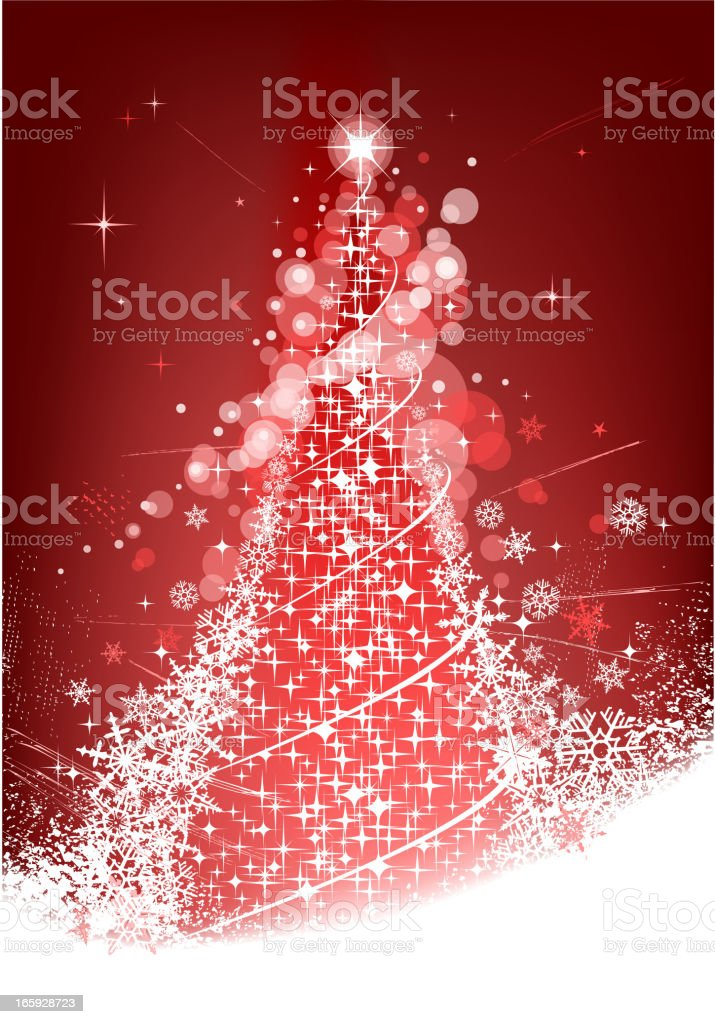 red christmas tree royalty-free stock vector art