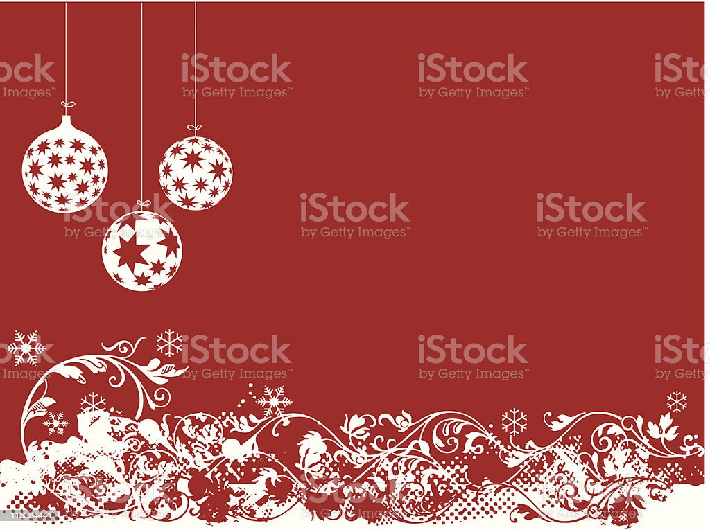 Red Christmas royalty-free stock vector art