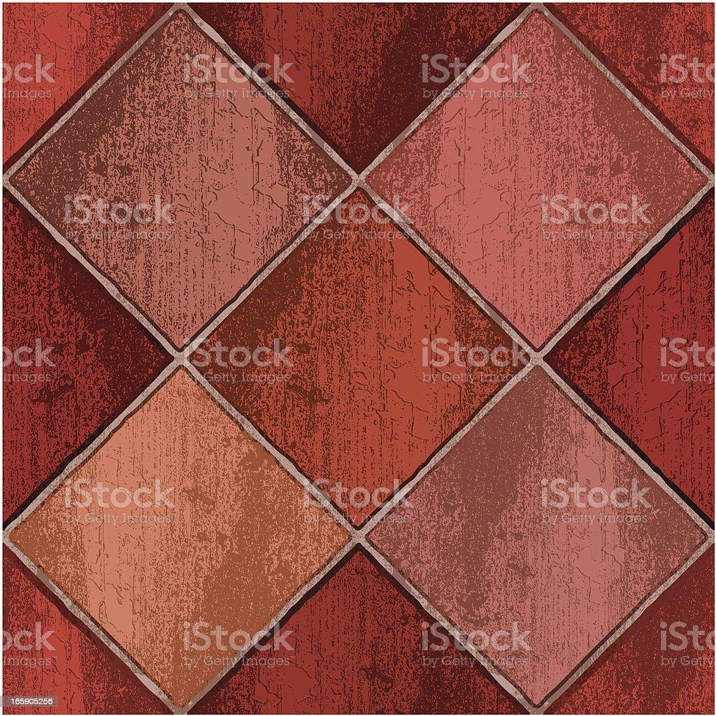 red clay floor tiles royalty-free stock vector art