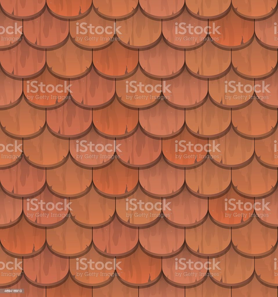 red clay roof tiles vector art illustration