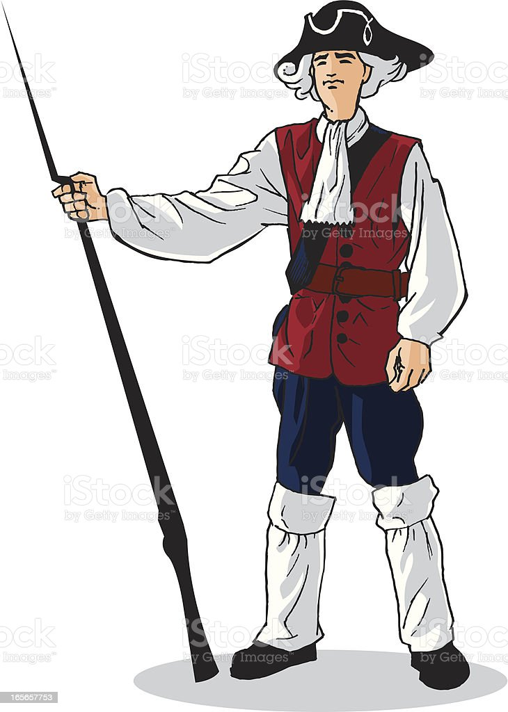 Red Coat Soldier stock vector art 165657753 | iStock