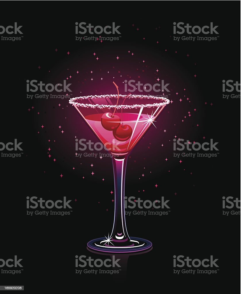 Red cocktail royalty-free stock vector art