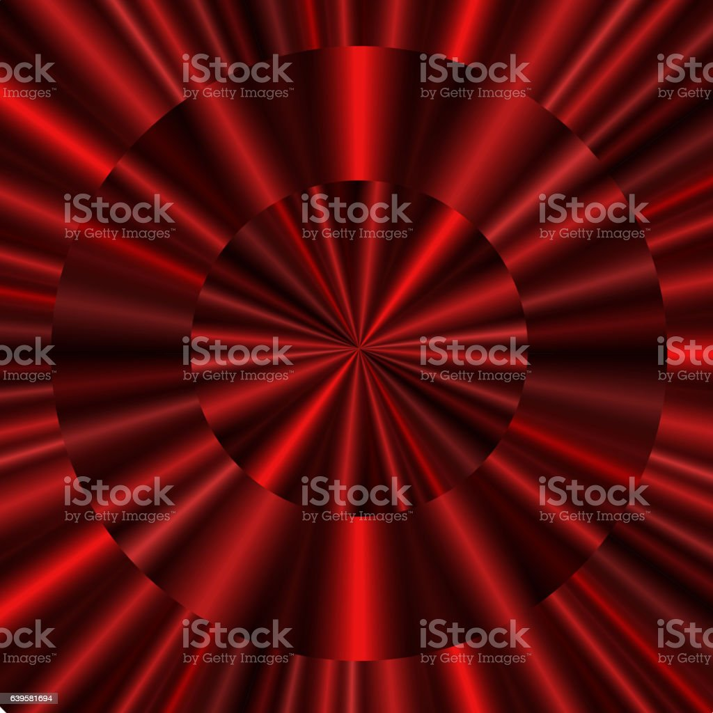 Red concentric curtain background vector art illustration