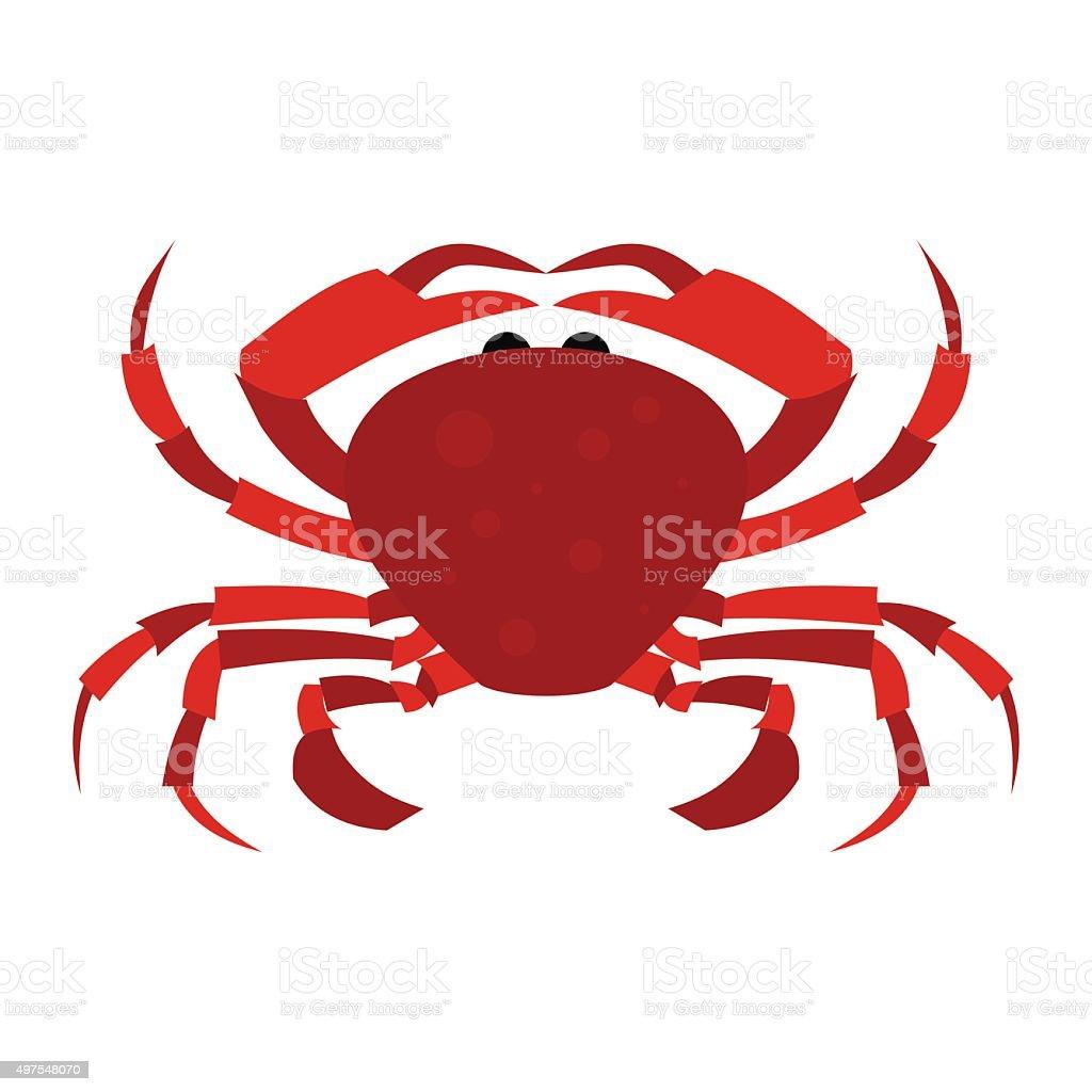 Red Crab icon vector art illustration