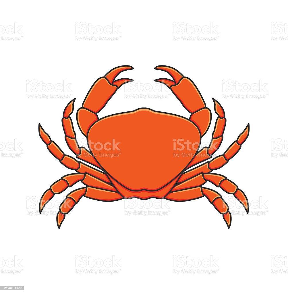 Red Crab. Vector Illustration vector art illustration
