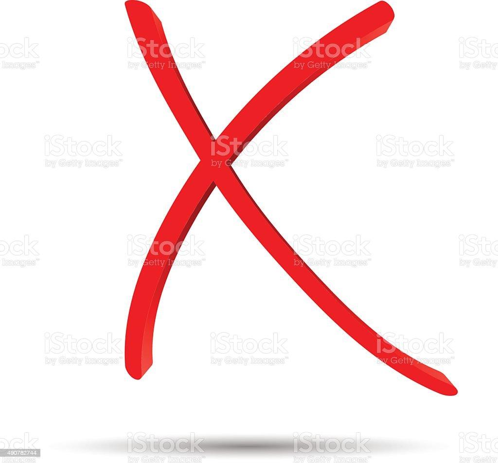 Rotes Kreuz Mark Auf Weißem Hintergrund Vektor Illustration ... | {Rotes kreuz symbol 50}