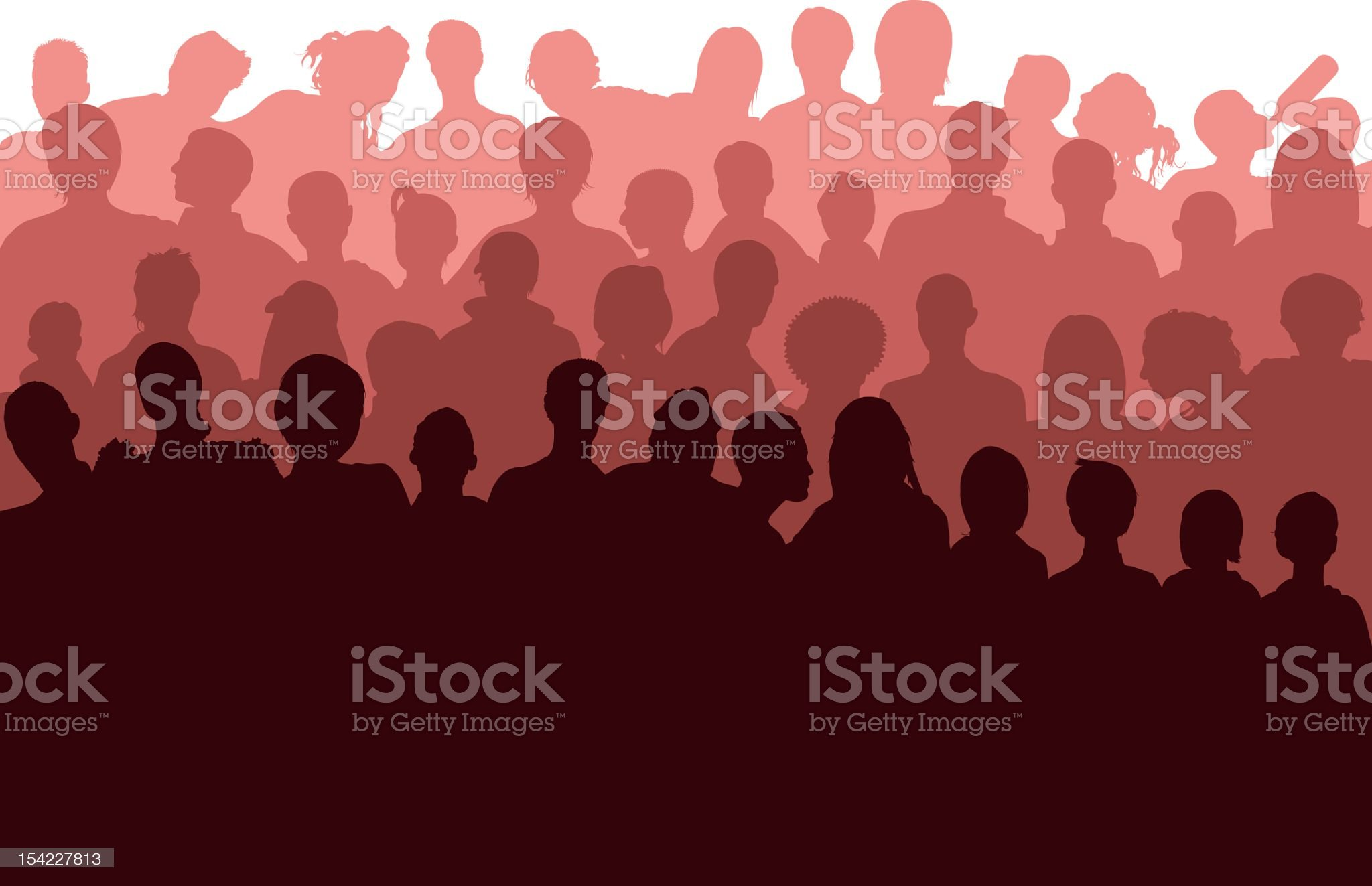 Red Crowd royalty-free stock vector art