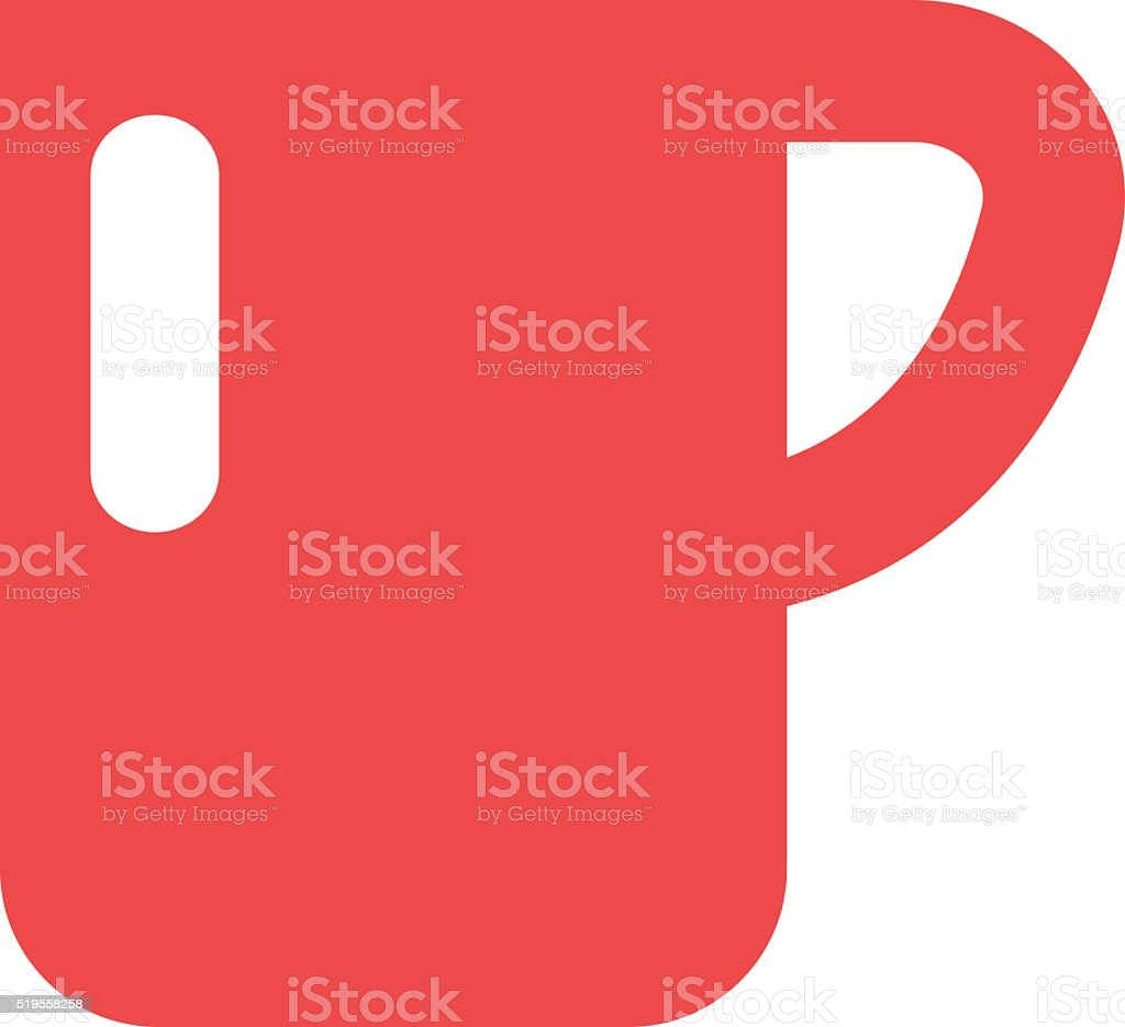 Red cup coffee tea or drink cafe morning beverage kitchen vector art illustration