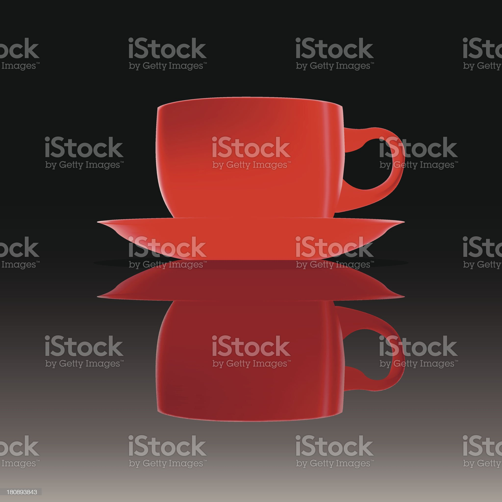 Red cup on a smooth surface royalty-free stock vector art