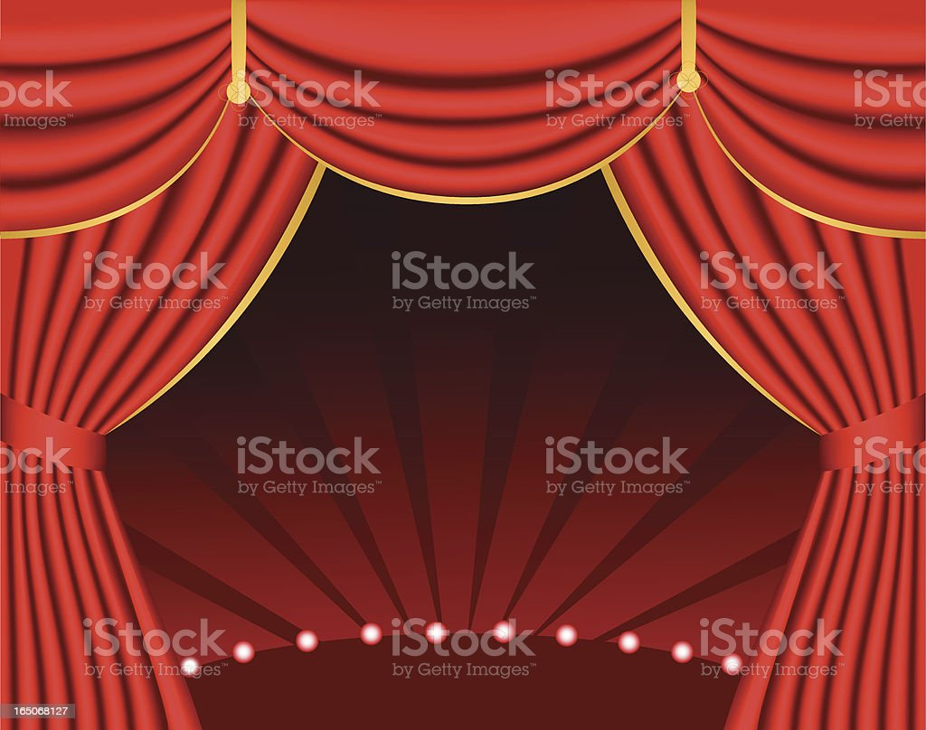 Red Curtain Frame royalty-free stock vector art