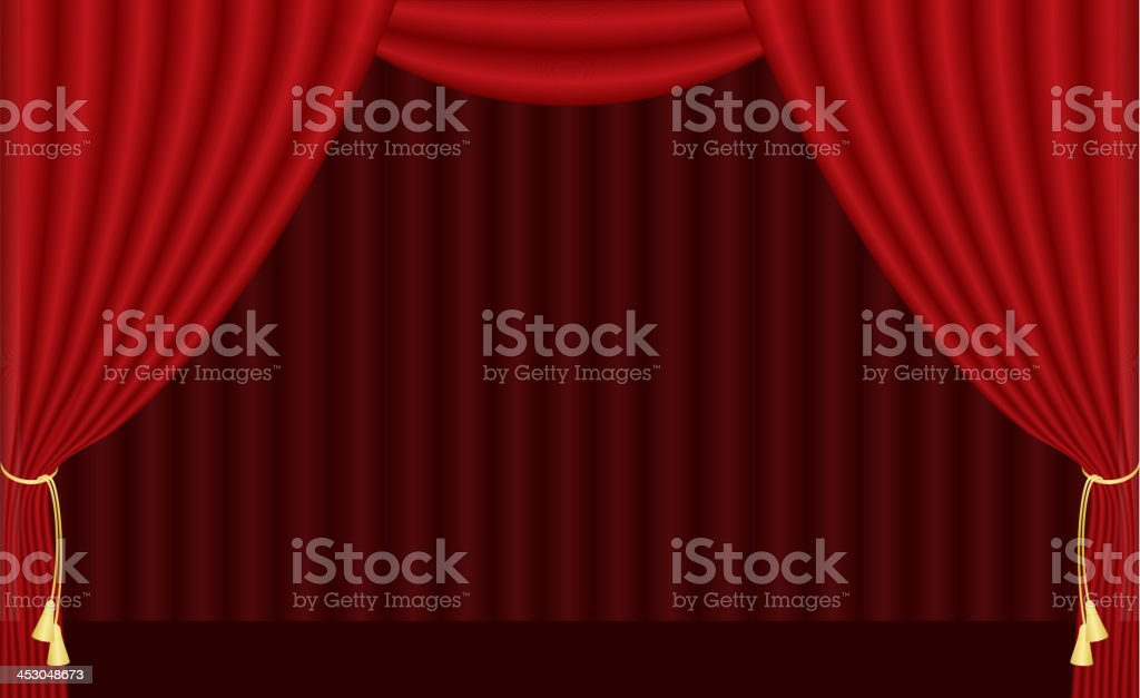 red curtain royalty-free stock vector art