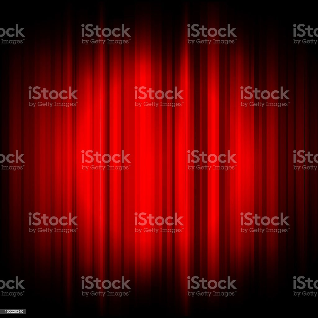 Red curtain with spotlight background image vector art illustration