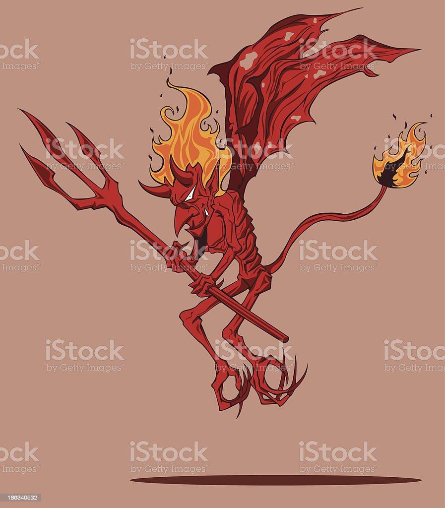 Red Devil royalty-free stock vector art
