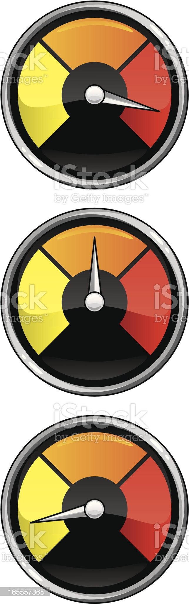 red dials royalty-free stock vector art